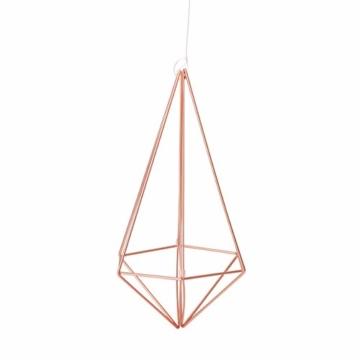 Umbra Prisma Geometrische Wanddekoration – Deko zum Aufhängen an Wand und Decke oder als Tischdekoration Verwendbar, Set mit 6 Prisma Hälften, Metall / Kupfer - 11