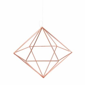 Umbra Prisma Geometrische Wanddekoration – Deko zum Aufhängen an Wand und Decke oder als Tischdekoration Verwendbar, Set mit 6 Prisma Hälften, Metall / Kupfer - 12