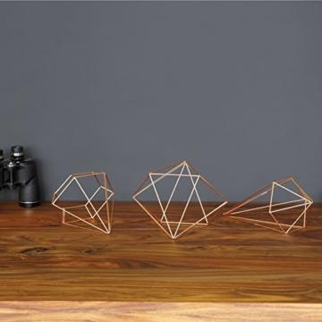 Umbra Prisma Geometrische Wanddekoration – Deko zum Aufhängen an Wand und Decke oder als Tischdekoration Verwendbar, Set mit 6 Prisma Hälften, Metall / Kupfer - 3