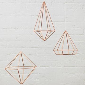 Umbra Prisma Geometrische Wanddekoration – Deko zum Aufhängen an Wand und Decke oder als Tischdekoration Verwendbar, Set mit 6 Prisma Hälften, Metall / Kupfer - 4
