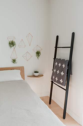 Umbra Prisma Geometrische Wanddekoration – Deko zum Aufhängen an Wand und Decke oder als Tischdekoration Verwendbar, Set mit 6 Prisma Hälften, Metall / Kupfer - 7