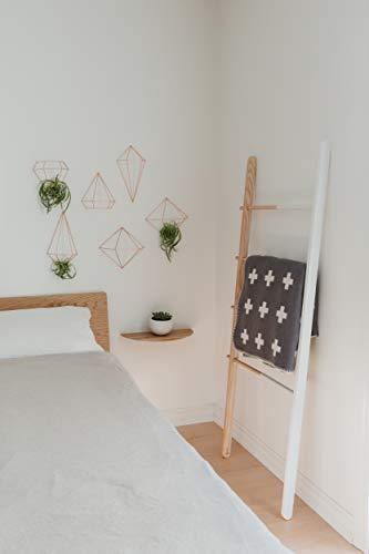 Umbra Prisma Geometrische Wanddekoration – Deko zum Aufhängen an Wand und Decke oder als Tischdekoration Verwendbar, Set mit 6 Prisma Hälften, Metall / Kupfer - 8