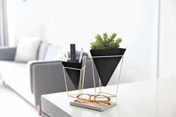Umbra Trigg Übertopf und Wandvase für Zimmerpflanzen, Sukkulenten, Luftpflanzen, Kakteen, Kunstpflanzen und Mehr, 2-er Set - 5