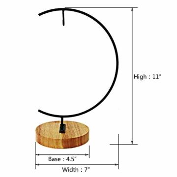 Fosinz Ornament Display Stand - Holz Eisen Hängende Stand Pflanzen Halter für hängende Glas Globe Air Plant Terrarium, Ball, Christbaumkugel & Home Wedding Dekoration (Wood 2 Pack) - 4