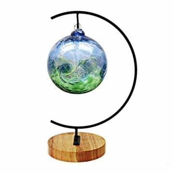 Fosinz Ornament Display Stand - Holz Eisen Hängende Stand Pflanzen Halter für hängende Glas Globe Air Plant Terrarium, Ball, Christbaumkugel & Home Wedding Dekoration (Wood 2 Pack) - 6