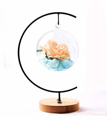 Fosinz Ornament Display Stand - Holz Eisen Hängende Stand Pflanzen Halter für hängende Glas Globe Air Plant Terrarium, Ball, Christbaumkugel & Home Wedding Dekoration (Wood 2 Pack) - 7