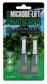 MICROBE-LIFT Plantscaper - Pflanzenkleber für Moose und Pflanzen in jedem Süßwasseraquarium, Sekundenkleber, Aquariumkleber, Aquascaping, sehr ergiebig, 2x5g - 1